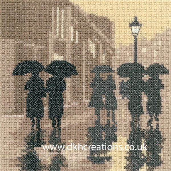 Brollies Cross Stitch Kit